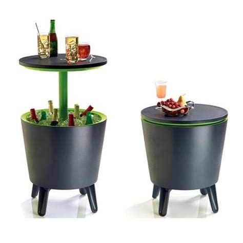 patio bar table cooler keter outdoor coolbar drinks cooler box bar table black