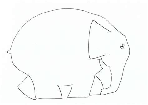 Elmer The Elephant Template by Elmer Template By Suemaas Teaching Resources Tes