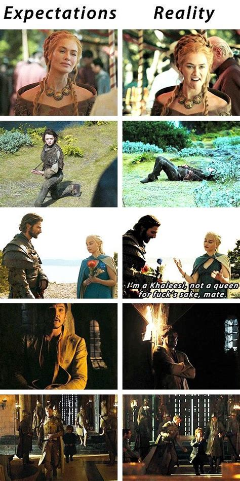gif set expectations  reality game  thrones