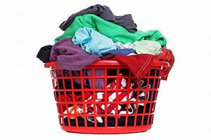 A, Laundry, Basket, Full, Of, Multicolored, Clothes, Stock, Photo, -, Download, Image, Now