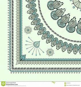 Mehendi tracery hindi drawing carpet corner stock vector for Drawing of carpet design