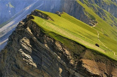 Amazing Farm On A Steep Slope In The Alps (6 Pictures