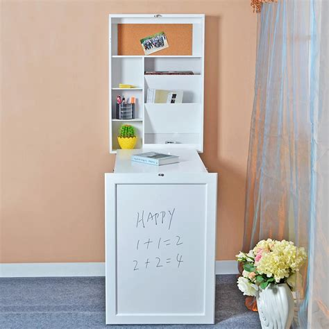 white fold out table 2017 usa stock white wall mount fold out writing desk