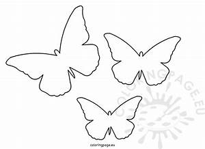 butterfly cut out template coloring page With butterfly paper cut out template