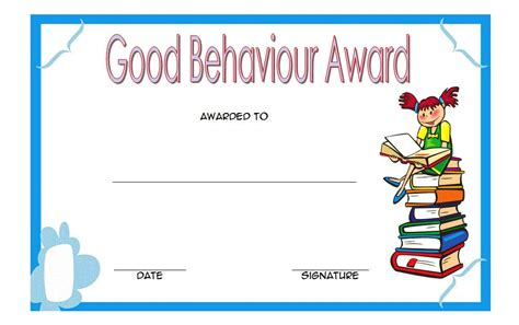 good behaviour certificate editable templates