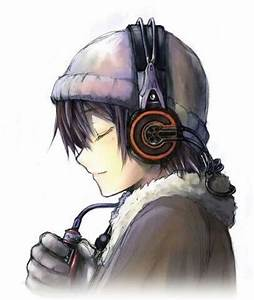Anime Boy with Headphones | Anime Art | hot anime ...