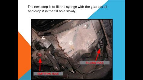 change  gearbox oil youtube