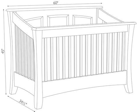 standard crib size carlisle crib ohio hardword upholstered furniture