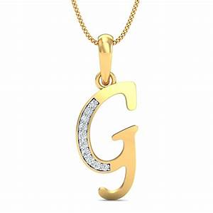 alphabet g gold pendant kuberboxcom With gold letter g pendant