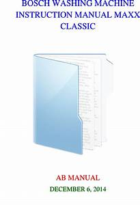 Instruction Manual Bosch Maxx 5