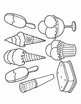 Ice Cream Coloring Pages Scoop Colouring Printable Print Drawing Cone Adult Pop Food Sandwich Easy Sheets Draw Summer Getdrawings Crafts sketch template