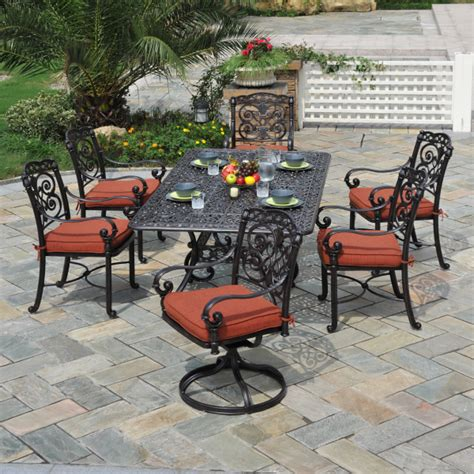 outdoor patio dining set by hanamint family leisure