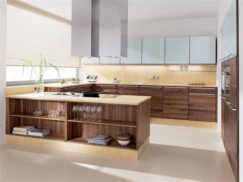 Küchenzeile U Form by U Form K 252 Che Linee In Nussbaum Und Hochglanz Wei 223