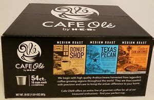 The tortilla soup and the taco salad are other pleasing ways to begin your meal. HEB VARIETY San Antonio/Texas PECAN Cafe Ole Coffee K-cups ...