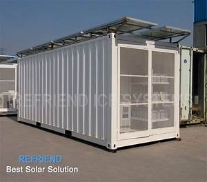 Solar Power Container Refrigerator