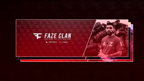 gfx  faze twitter header template youtube