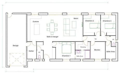 plan maison plain pied 3 chambres gratuit plan maison plain pied 3 chambres gratuit plan maison 3