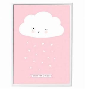 poster nuage pour chambre d39enfant commentseruiner With affiche chambre bébé avec fleur pour anniversaire 50 ans