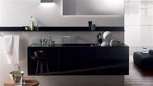 Déco Salle De Bain Noir Et Blanc : la salle de bain d co noir de style moderne et contemporain ~ Melissatoandfro.com Idées de Décoration