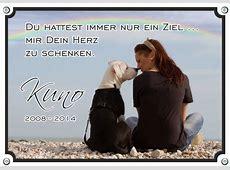 Typ B Gedenkschild von Ihrem Hund Grabtafel mit einem