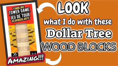 dollar tree wood blocks