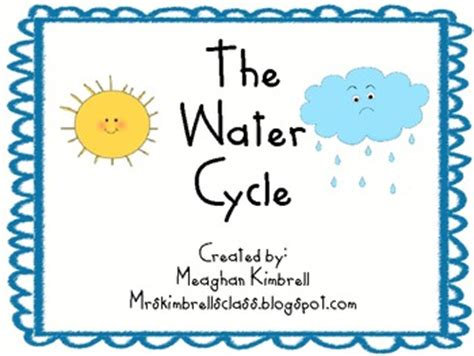 water cycle preschool kindergarten holding and sticking together the 254