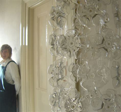 recycled bottle cascade chandelier inhabitat