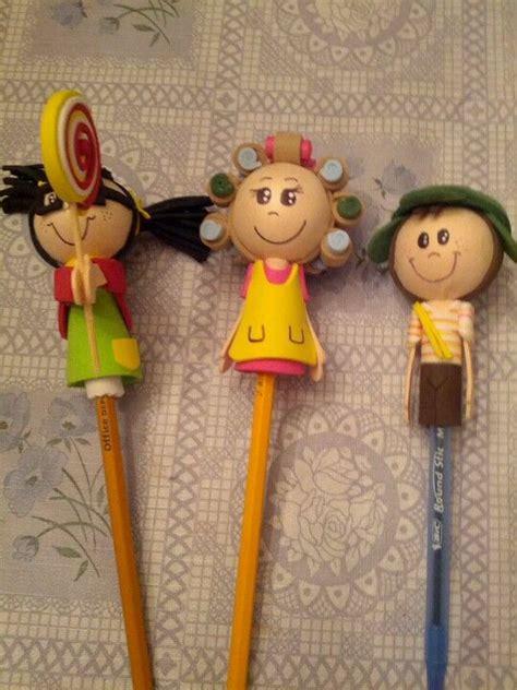el chavo del 8 fofulapiz manualidades de fomi fofuchas lapiz decoracion de lapiz