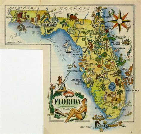 florida pictorial map