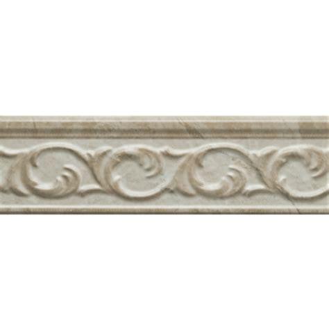 shop style selections clorinda white ceramic listello tile