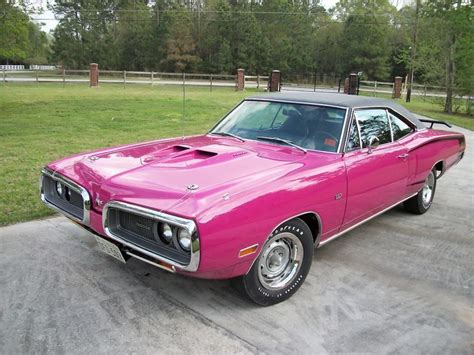 pink car  dodge coronet super bee  panther pink