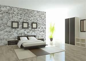 chambre adulte papier peint avec deco tapisserie chambre With deco avec papier peint