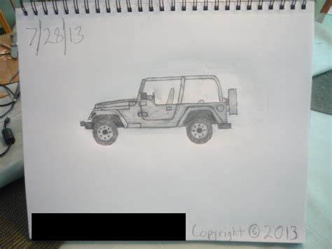 4 door jeep drawing sketch of my matchbox 1998 jeep wrangler by masterpeace23
