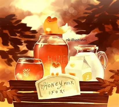 Tea Milk Fox Honey Nkim Drawings Story