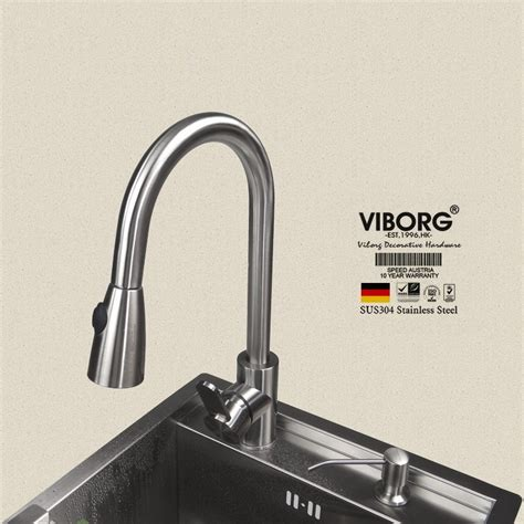 stainless steel kitchen faucet with pull spray viborg deluxe 304 stainless steel pull out spray kitchen