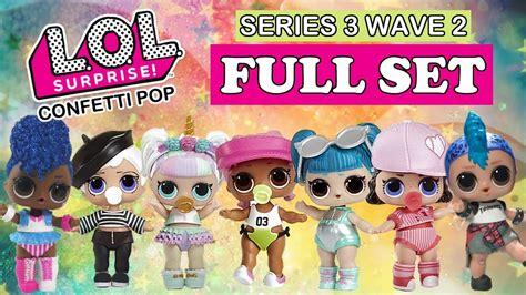 lol surprise confetti pop wave  full set real dolls