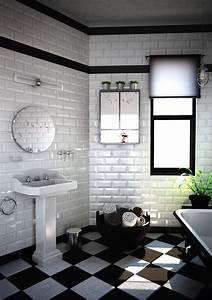 Salle De Bain Carrelage Noir : salle de bain noire marron et grise comment l 39 am nager ~ Dailycaller-alerts.com Idées de Décoration