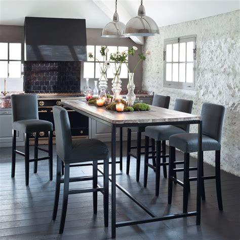 table haute de cuisine table salle a manger haute table cuisine grise