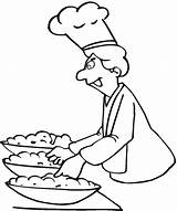 Chef Coloring Pages Printable Getcoloringpages sketch template
