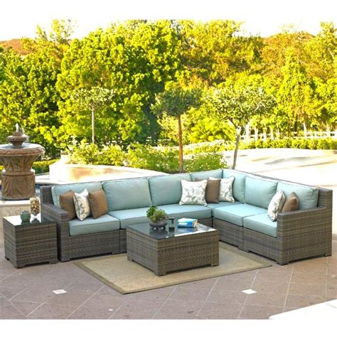 malibu willow weave sectional set 8pc by northcape
