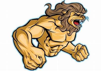 Lion Mascot Sports Mascote Sobre Vetor Vecteezy
