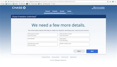Live chat customer service option is not supported by chase. Chase Freedom Unlimited Credit Card Online Application