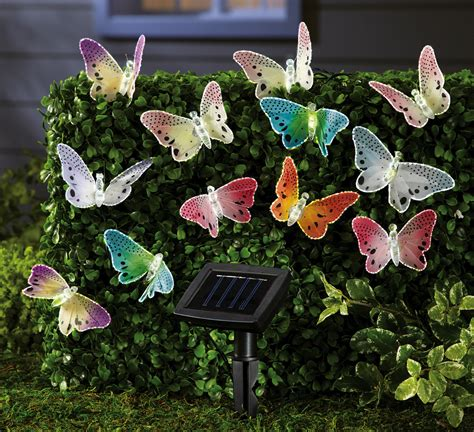 solar butterfly string lights patio lights