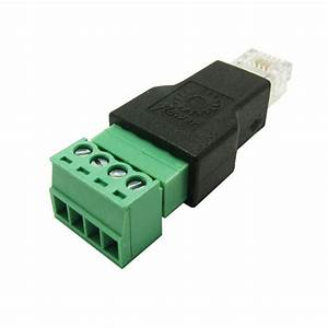 Rj11 4p4c Male Connector Modular Plugs To 4 Pin Screw