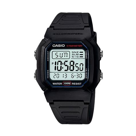 casio digital pria w 800h 1av jual casio digital rubber jam tangan pria black w