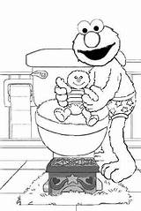 Potty Elmo Training Coloring Pages Colouring Toilet Printable Pee Diaper Monster Daycare Activities Street Cookie Sesame Diapers Chart Disney App sketch template