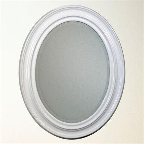 White Framed Oval Bathroom Mirror by White Oval Bathroom Mirror Bathroom Mirrors Mirror