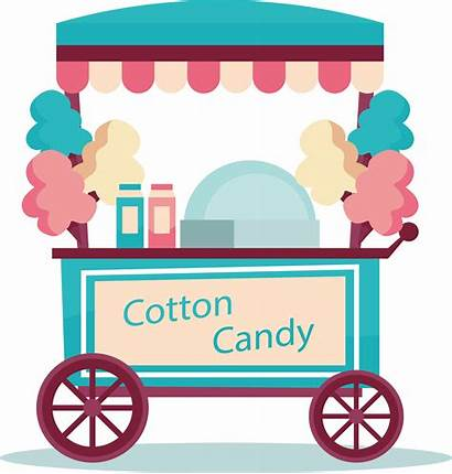 Candy Cotton Clipart Clip Cart Apple Lollipop