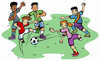 Clipart Football Playing Player Kid Clipartion