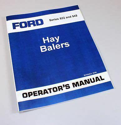 ford series   baler owners operators manual book ebay